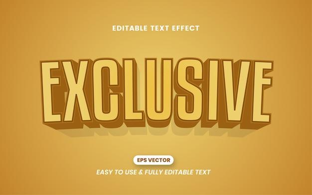 Efeito de estilo de texto 3d exclusivo