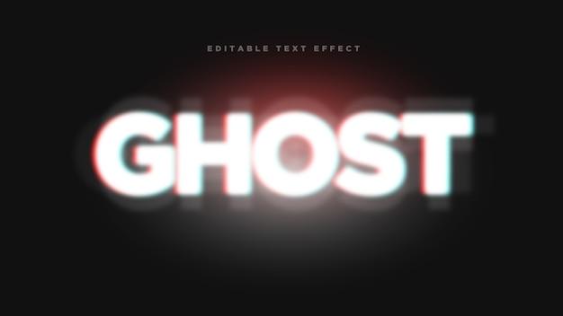 Efeito de estilo de texto 3d fantasma