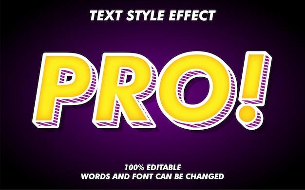 Efeito de estilo de texto 3d forte negrito retrô pop art