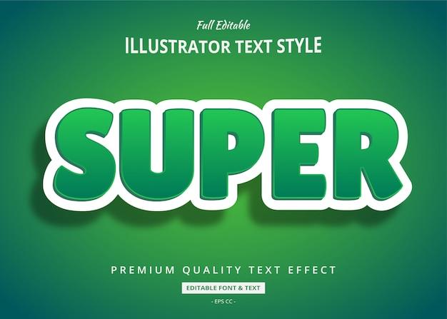 Efeito de estilo de texto 3d limpo verde