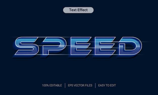 Efeito de estilo de texto 3d moderno de velocidade rápida
