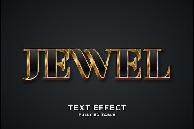 Efeito de estilo de texto 3d premium luxury preto e dourado
