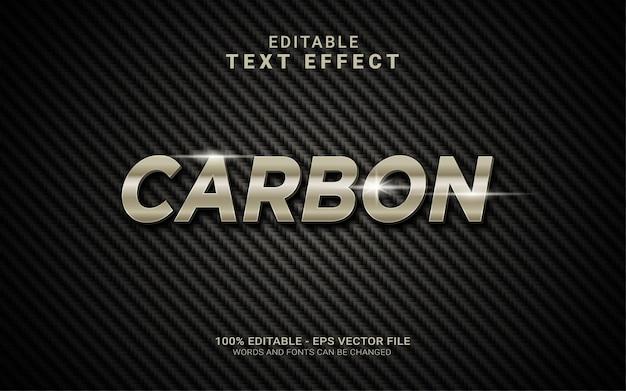 Efeito de estilo de texto 3d realista com fundo de fibra de arbon