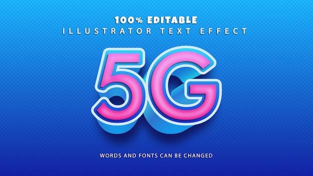 Efeito de estilo de texto 5g, texto editável