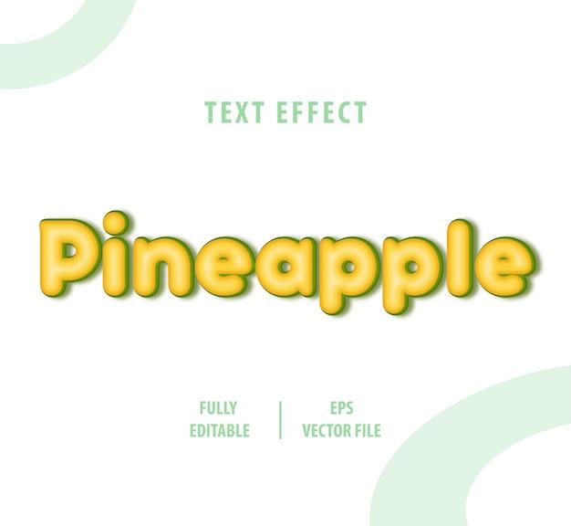 Efeito de estilo de texto abacaxi
