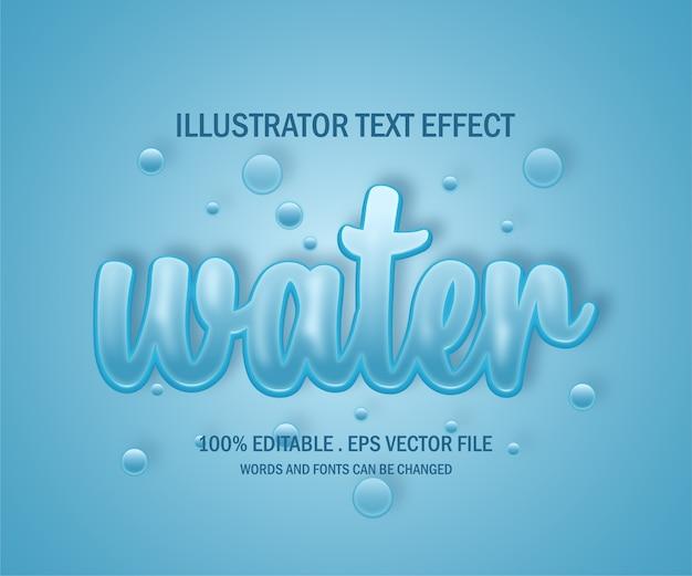 Efeito de estilo de texto aquático