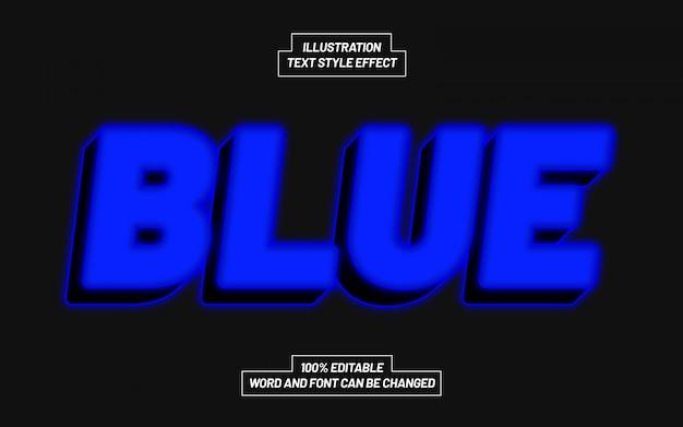 Efeito de estilo de texto azul