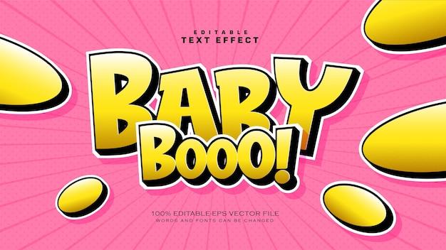 Efeito de estilo de texto baby boo