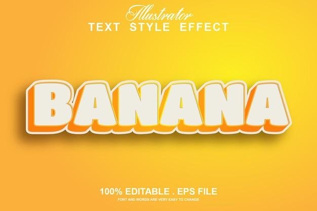 Efeito de estilo de texto banana editável