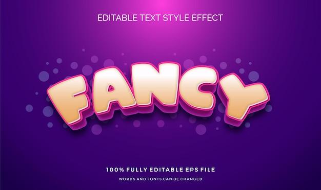 Efeito de estilo de texto bonito. fontes de alteração editáveis. Vetor Premium