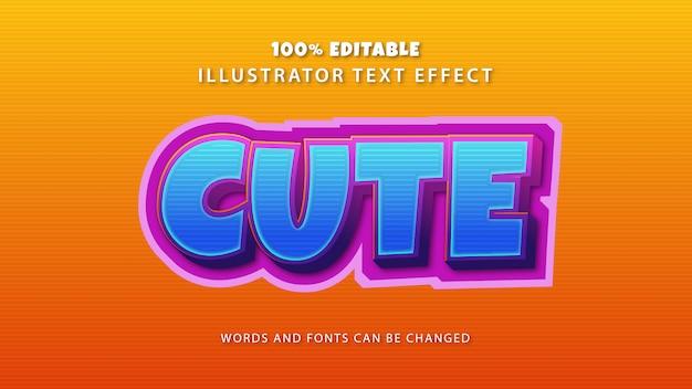 Efeito de estilo de texto bonito, texto editável