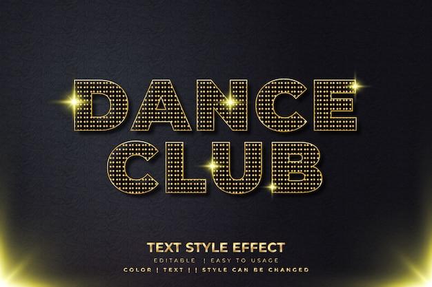 Efeito de estilo de texto brilhante dourado 3d