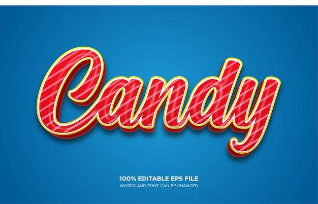 Efeito de estilo de texto candy 3d