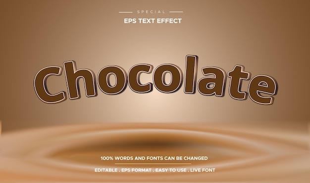 Efeito de estilo de texto chocolate