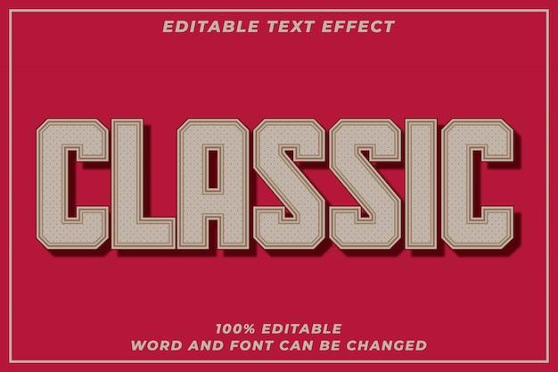 Efeito de estilo de texto clássico