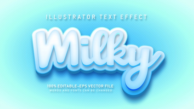 Efeito de estilo de texto com nome leitoso suave