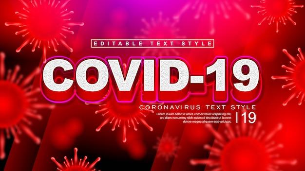 Efeito de estilo de texto covid-19 coronavirus