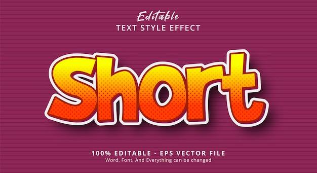 Efeito de estilo de texto curto, efeito de texto editável