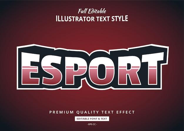 Efeito de estilo de texto da equipe esport