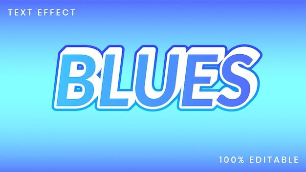 Efeito de estilo de texto de blues