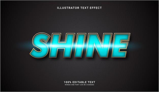Efeito de estilo de texto de brilho. efeito de texto editável