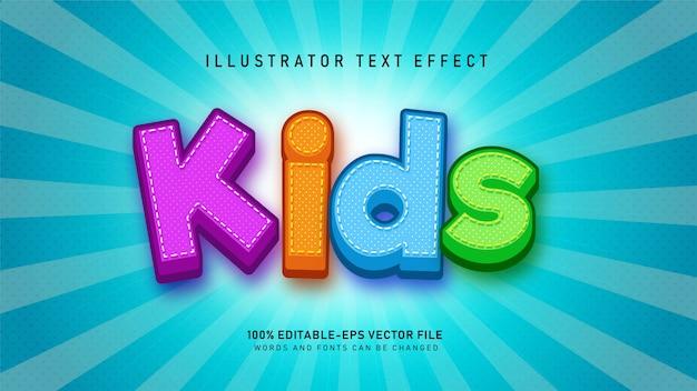 Efeito de estilo de texto de crianças