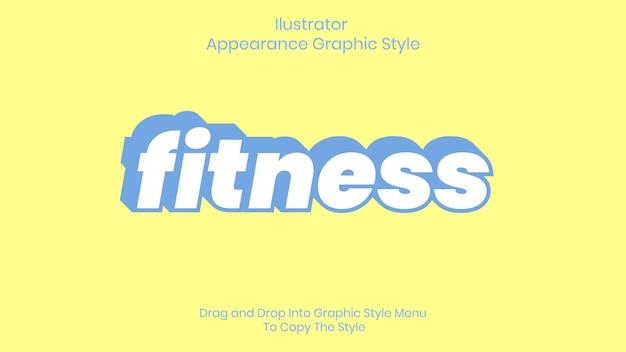 Efeito de estilo de texto de fitness