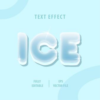 Efeito de estilo de texto de gelo