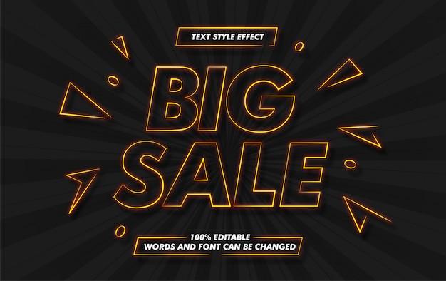 Efeito de estilo de texto de grande venda