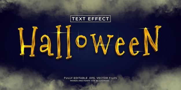 Efeito de estilo de texto de halloween, vetor eps editável