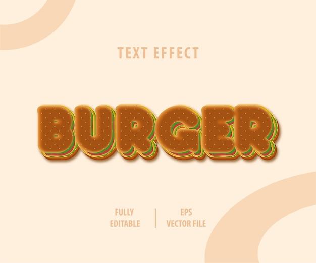Efeito de estilo de texto de hambúrguer