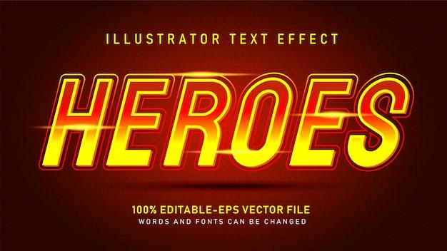 Efeito de estilo de texto de heróis