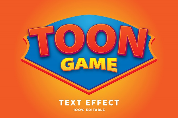 Efeito de estilo de texto de jogo dos desenhos animados