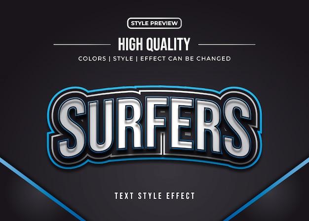 Efeito de estilo de texto de jogos 3d para identidade de equipe ou adesivo
