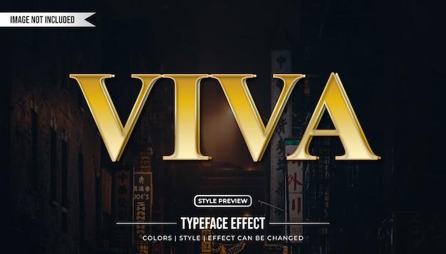 Efeito de estilo de texto de luxo com gradiente dourado
