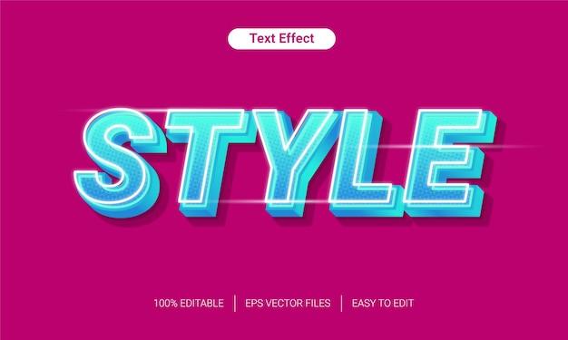 Efeito de estilo de texto de meio-tom gradiente claro