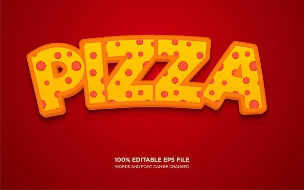 Efeito de estilo de texto de pizza