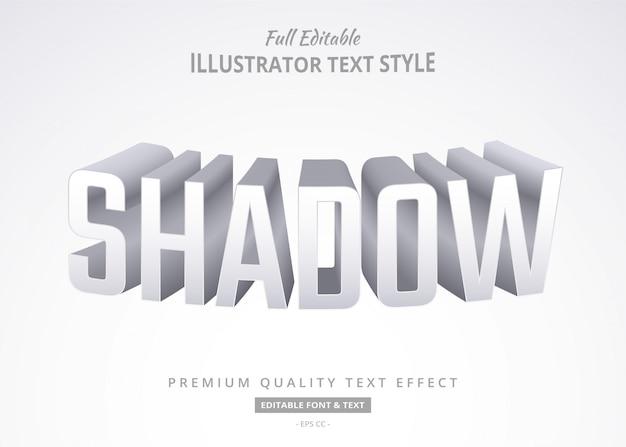 Efeito de estilo de texto de sombra de venda