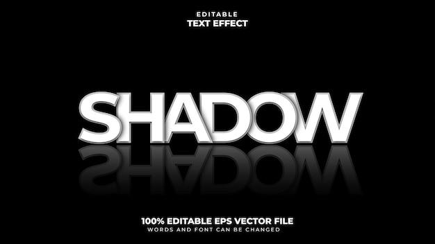 Efeito de estilo de texto de sombra
