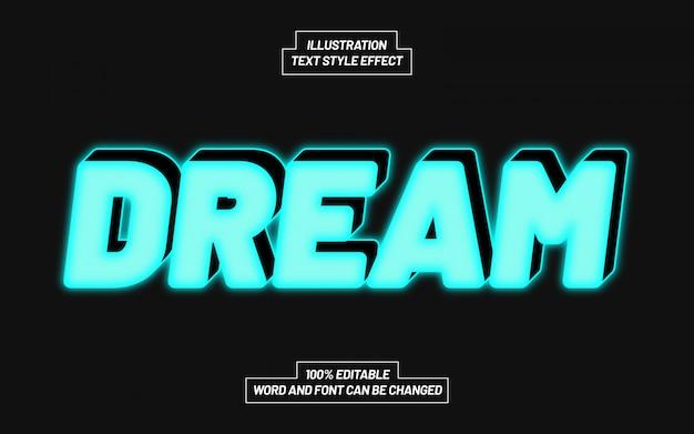 Efeito de estilo de texto de sonho