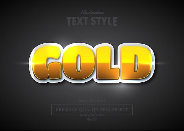 Efeito de estilo de texto de vetor ouro