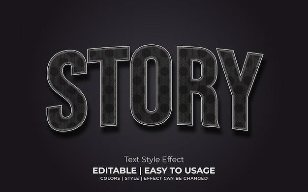 Efeito de estilo de texto de vidro 3d com linhas brilhantes