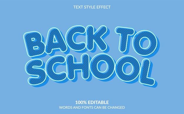 Efeito de estilo de texto de volta às aulas