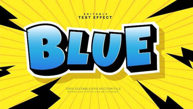 Efeito de estilo de texto divertido do bipe de desenho animado