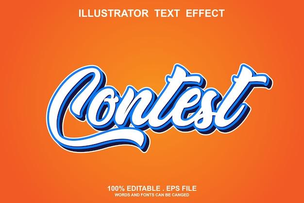 Efeito de estilo de texto do concurso editável