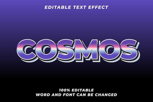 Efeito de estilo de texto do cosmos vetor premium