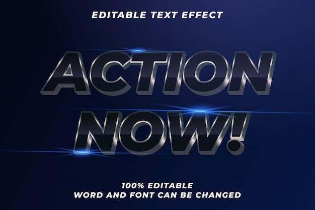 Efeito de estilo de texto do filme de ação