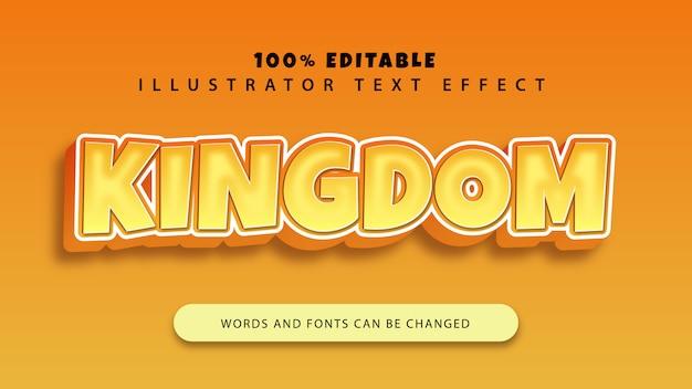 Efeito de estilo de texto do reino, texto editável