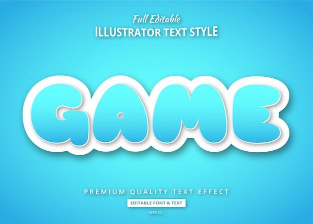 Efeito de estilo de texto do título do jogo dos desenhos animados
