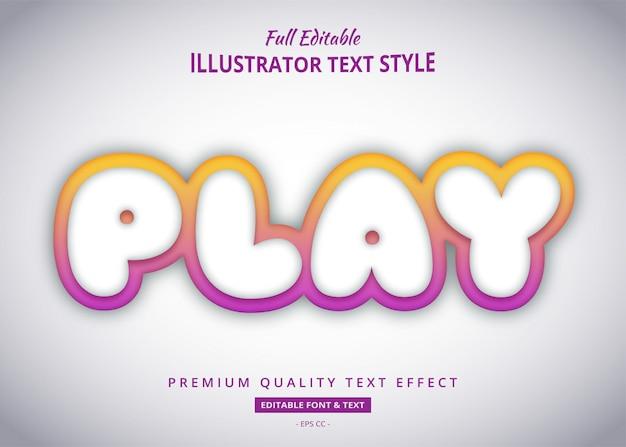 Efeito de estilo de texto do título do jogo gradiente